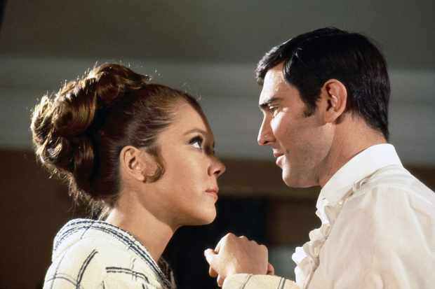 George Lazenby in On Her Majesty's Secret Service