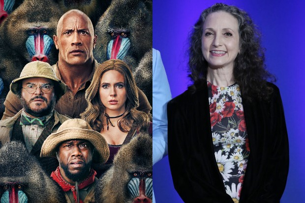 The cast of Jumanji: The Next Level and Bebe Neuwirth (Sony, Getty)