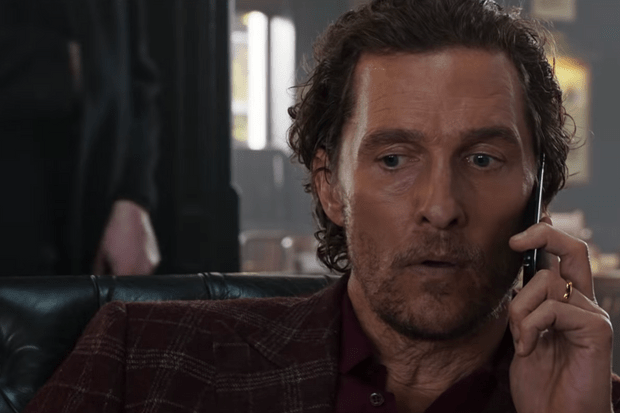 McConaughey The Gentlemen movie, screengrab from trailer https://www.youtube.com/watch?v=q_vho_EFNvQ