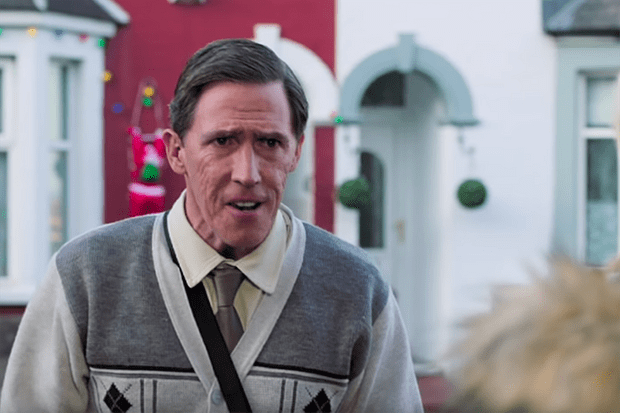 Rob Brydon on Trinity Street in the new Gavin and Stacey Christmas special (BBC)