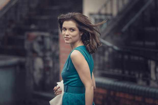 Sophie Cookson plays Christine Keeler in The Trial of Christine Keeler