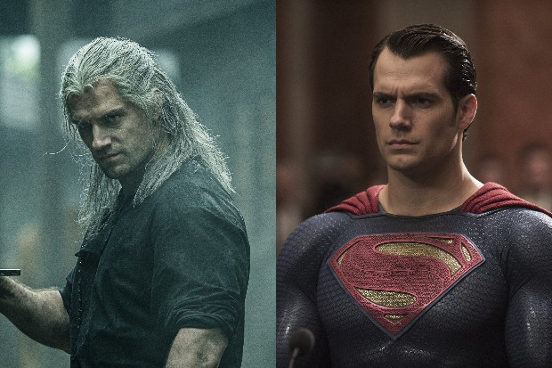 Henry Cavill in Netflix's The Witcher, and as Kal-El/Superman in Batman vs Superman: Dawn of Justice (WB)