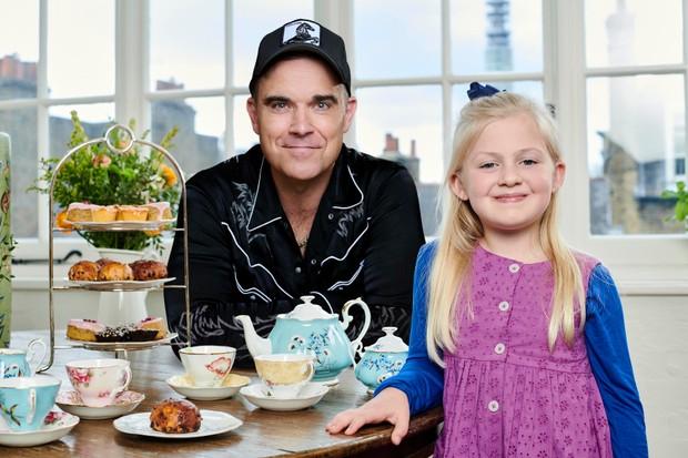 Clara Ross and Robbie Williams