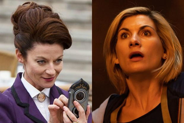 Michelle Gomez as Missy/The Master and Jodie Whittaker as the Doctor (BBC)