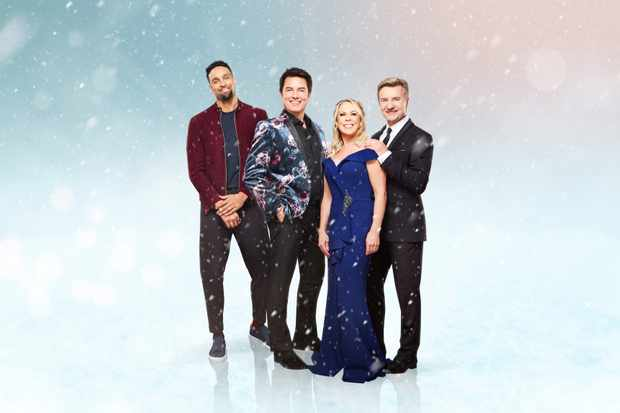 Dancing on Ice (ITV) judges, including Ashley Banjo, John Barrowman, Torvill and Dean
