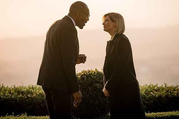 Jodie Whittaker with Lenny Henry in Doctor Who series 12 (BBC)