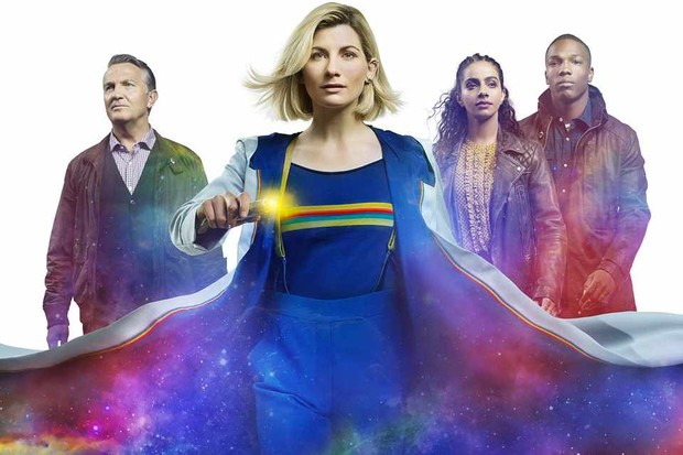 WARNING: Embargoed for publication until 22:00:01 on 21/11/2019 - Programme Name: Doctor Who Series 12 - TX: n/a - Episode: n/a (No. n/a) - Picture Shows: **STRICTLY EMBARGOED FOR PUBLICATION UNTIL 21/11/2019 22:00:01** Graham (BRADLEY WALSH), The Doctor (JODIE WHITTAKER), Yaz (MANDIP GILL), Ryan (TOSIN COLE) - (C) BBC Studios - Photographer: Alan Clarke