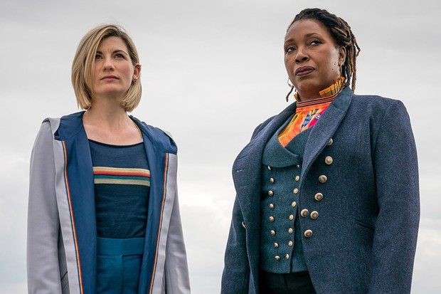 WARNING: Embargoed for publication until 21:00:01 on 26/01/2020 - Programme Name: Doctor Who Series 12 - TX: n/a - Episode: n/a (No. 5) - Picture Shows: **POST TX**  **STRICTLY EMBARGOED UNTIL 26/01/2020 21:00:01** The Doctor (JODIE WHITTAKER), Ruth Clayton (JO MARTIN) - (C) BBC  - Photographer: Ben Blackall