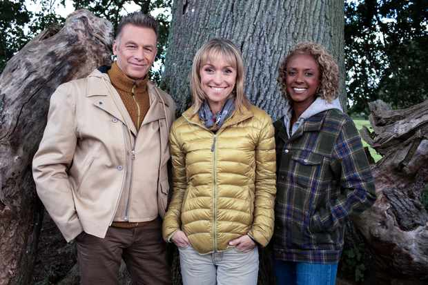 Programme Name: Winterwatch 2020 - TX: n/a - Episode: Winterwatch 2020 (No. n/a) - Picture Shows:  Chris Packham, Michaela Strachan, Gillian Burke - (C) BBC - Photographer: Pete Dadds