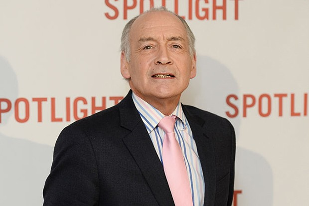 LONDON, ENGLAND - JANUARY 20:  Alastair Stewart arrives for the UK Premiere of Spotlight at The Washington Mayfair on January 20, 2016 in London, England.  (Photo by Jeff Spicer/Getty Images)