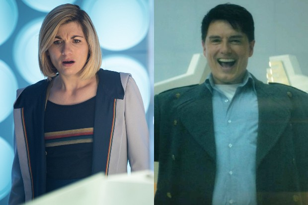 Jodie Whittaker and John Barrowman in Doctor Who (BBC)