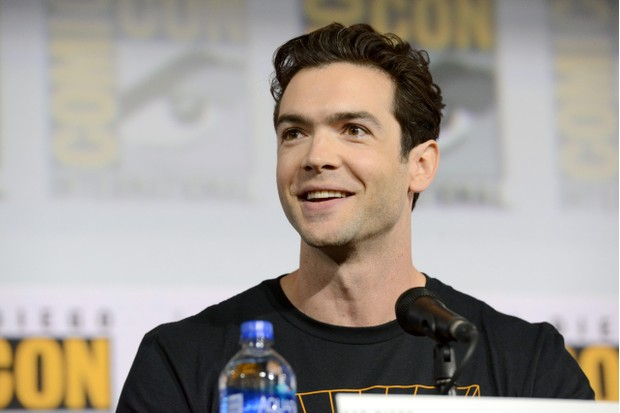 """SAN DIEGO, CALIFORNIA - JULY 20: Evan Evagora speaks at the """"Enter The Star Trek Universe"""" Panel during 2019 Comic-Con International at San Diego Convention Center on July 20, 2019 in San Diego, California. (Photo by Albert L. Ortega/Getty Images)"""