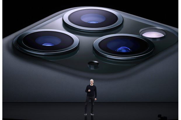Tim Cook, chief executive officer of Apple Inc., speaks about the new iPhone Pro during an event at the Steve Jobs Theater in Cupertino, California, U.S., on Tuesday, Sept. 10, 2019. Apple unveiled the iPhone 11 that will replace the XR and start at $699. Photographer: David Paul Morris/Bloomberg via Getty Images