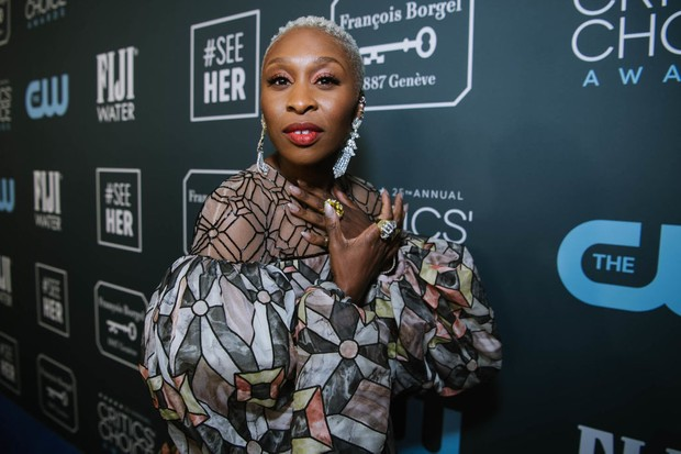 SANTA MONICA, CALIFORNIA - JANUARY 12: Cynthia Erivo attends the 25th annual Critics' Choice Awards at Barker Hangar on January 12, 2020 in Santa Monica, California. (Photo by Emma McIntyre/Getty Images)