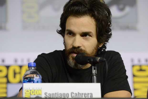 """SAN DIEGO, CALIFORNIA - JULY 20: Santiago Cabrera speaks during the """"Enter The Star Trek Universe"""" Panel during 2019 Comic-Con International at San Diego Convention Center on July 20, 2019 in San Diego, California. (Photo by Albert L. Ortega/Getty Images)"""