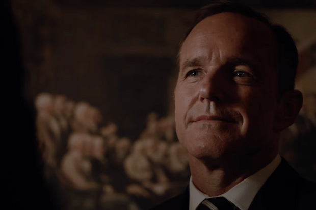 Clark Gregg as Agent Coulson in AGENTS OF SHIELD -- screengrab from trailer https://www.youtube.com/watch?v=HM-6Zmc7LYg