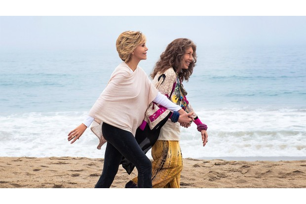 Jane Fonda and Lily Tomlin as Grace and Frankie