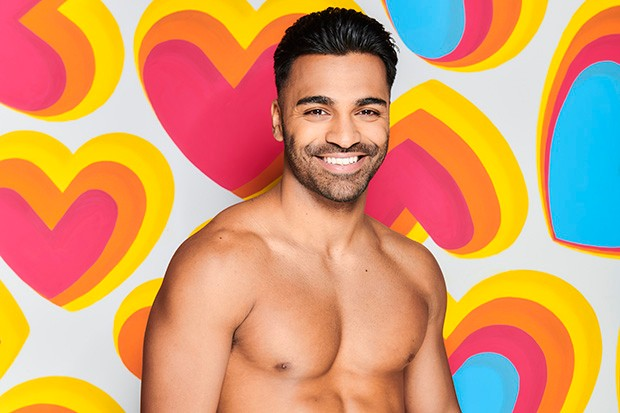 This image is strictly embargoed until 22.00 Monday 6th January 2020  From ITV Studios  Love Island: SR6 on ITV2  Pictured: Nas Majeed.  This photograph is (C) ITV Plc and can only be reproduced for editorial purposes directly in connection with the programme or event mentioned above, or ITV plc. Once made available by ITV plc Picture Desk, this photograph can be reproduced once only up until the transmission [TX] date and no reproduction fee will be charged. Any subsequent usage may incur a fee. This photograph must not be manipulated [excluding basic cropping] in a manner which alters the visual appearance of the person photographed deemed detrimental or inappropriate by ITV plc Picture Desk.  This photograph must not be syndicated to any other company, publication or website, or permanently archived, without the express written permission of ITV Picture Desk. Full Terms and conditions are available on the website www.itv.com/presscentre/itvpictures/terms  For further information please contact: james.hilder@itv.com / 0207 157 3052