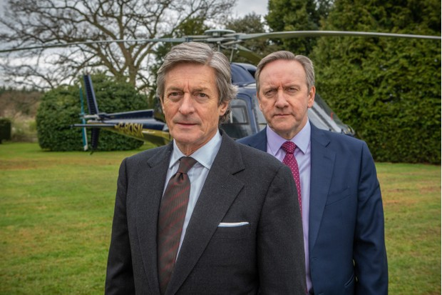 Midsomer Murders XXl The Point of Balance Neil Dudgeon as DCI John Barnaby (R) Nigel Havers as Andrew Wilder
