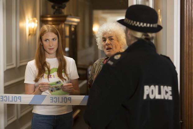 Midsomer Murders XXl The Miniature Murders Eleanor Bron as Maxine Dobson (R) Rosalie Craig as Carys Nicholson (L)
