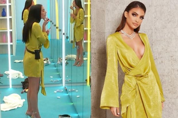 Love Island Siannise yellow dress