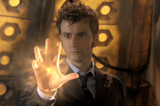 David Tennant begins regenerating in Doctor Who (BBC)