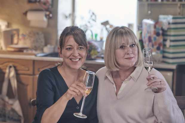 WARNING: Embargoed for publication until 00:00:01 on 18/02/2020 - Programme Name: Last Tango In Halifax Series 5 - TX: 23/02/2020 - Episode: n/a (No. 1) - Picture Shows:  Gillian (NICOLA WALKER), Caroline (SARAH LANCASHIRE) - (C) Lookout Point - Photographer: Matt Squire