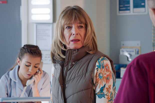 Programme Name: Holby City - TX: 18/02/2020 - Episode: n/a (No. 7) - Picture Shows:  Carole Copeland (JULIA DEAKIN) - (C) BBC - Photographer: Screengrab