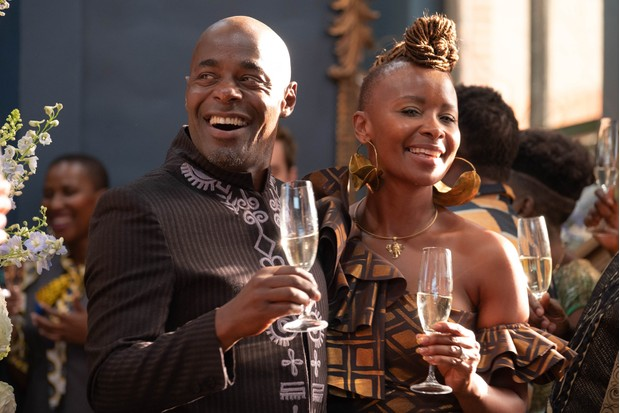 WARNING: Embargoed for publication until 00:00:01 on 25/02/2020 - Programme Name: Noughts & Crosses - TX: 05/03/2020 - Episode: n/a (No. 1) - Picture Shows:  Kamal Hadley (PATERSON JOSEPH), Jasmine Hadley (BONNIE MBULI) - (C) Mammoth Screen - Photographer: Ilze Kitshoff