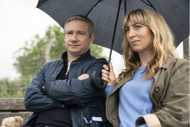 Martin Freeman and Daisy Haggard in Breeders