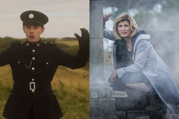 Evan McCabe and Jodie Whittaker in Doctor Who series 12 (BBC)