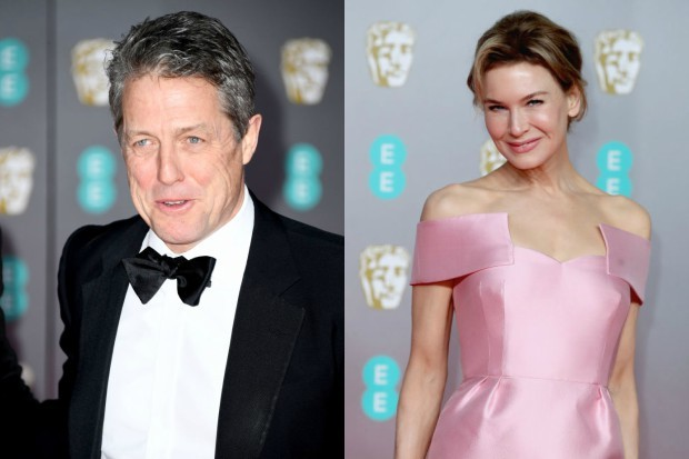 Hugh Grant and Renée Zellweger at the 2020 film BAFTAs (Getty)