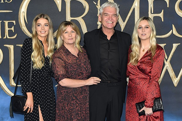 Phillip Schofield with his wife Stephanie and daughters Ruby and Molly (Getty Images)