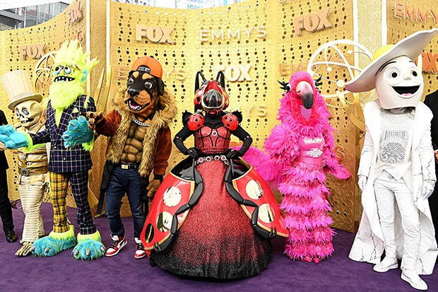 LOS ANGELES, CALIFORNIA - SEPTEMBER 22: 'The Masked Singer' mascots attend the 71st Emmy Awards at Microsoft Theater on September 22, 2019 in Los Angeles, California. (Photo by Steve Granitz/WireImage)