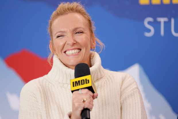 PARK CITY, UTAH - JANUARY 24: Toni Collette of 'Dream Horse' attends the IMDb Studio at Acura Festival Village on location at the 2020 Sundance Film Festival – Day 1 on January 24, 2020 in Park City, Utah. (Photo by Rich Polk/Getty Images for IMDb)