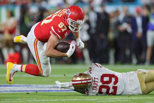 Image result for Travis Kelce Super Bowl Photos""