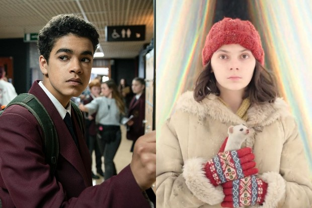 Amir Wilson as Will Parry and Dafne Keen as Lyra in His Dark Materials (BBC)