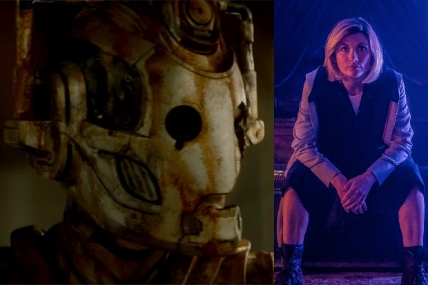 Doctor Who's Lone Cyberman and Jodie Whittaker's Doctor (BBC)