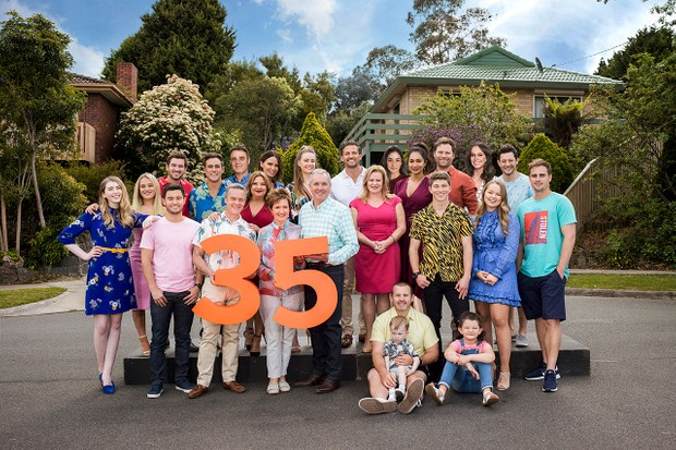 Neighbours 35th 2020 cast photo