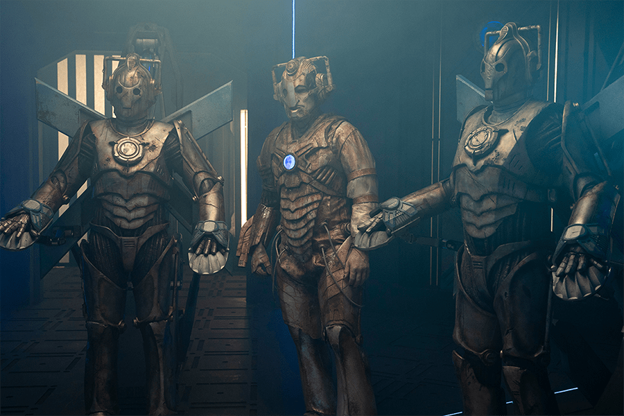 Ashad (Patrick O'Kane) and the other Cybermen (BBC)