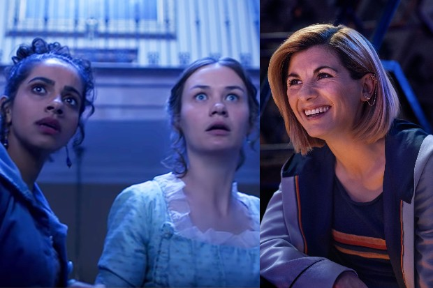 Mandip Gill, Lilli Miller and Jodie Whittaker in Doctor Who (BBC)