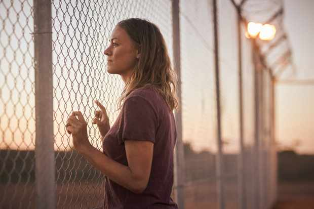 Stateless, Sofie Werner (Yvonne Strahovski) at Barton Immigration Detention Centre, image credit Ben King