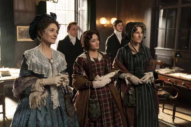 Belgravia, a brand new six-part series from Carnival Films coming to ITV and EPIX in 2020, tells Julian FellowesÕ intriguing tale of London society in the 19th Century.  PICTURED:Harriet Walter as Lady Brockenhurst, Ella Purnell as Lady Maria Grey, Tamsin Greig as Anne Trenchard  Photographer Colin Hutton.     The award-winning creative team behind Downton Abbey reunites with Fellowes, who has adapted from his bestselling novel of the same name for television screens, joined by a stellar ensemble cast including Tamsin Grieg, Philip Glenister, Harriet Walter, Tom Wilkinson and Alice Eve.     Filming completed earlier this year at a range of stunning Victorian locations in London and the home counties, Edinburgh, Bath and Northumberland.      Belgravia is a story of secrets and dishonour amongst the upper echelon of London society in the 19th Century. When the Trenchards accept an invitation to the now legendary ball hosted by the Duchess of Richmond on the fateful eve of the Battle of Waterloo, it sets in motion a series of events that will have consequences for decades to come as secrets unravel behind the porticoed doors of LondonÕs grandest postcode.      Carnival FilmsÕ Gareth Neame is executive producer alongside Nigel Marchant, Liz Trubridge and Fellowes. John Alexander (Sense & Sensibility, Trust Me) directed the limited series with Colin Wratten (Killing Eve) producing.