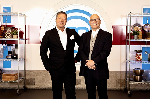 Programme Name: Masterchef - TX: n/a - Episode: n/a (No. Judges Generics) - Picture Shows: John Torode, Gregg Wallace - (C) Shine TV - Photographer: Production