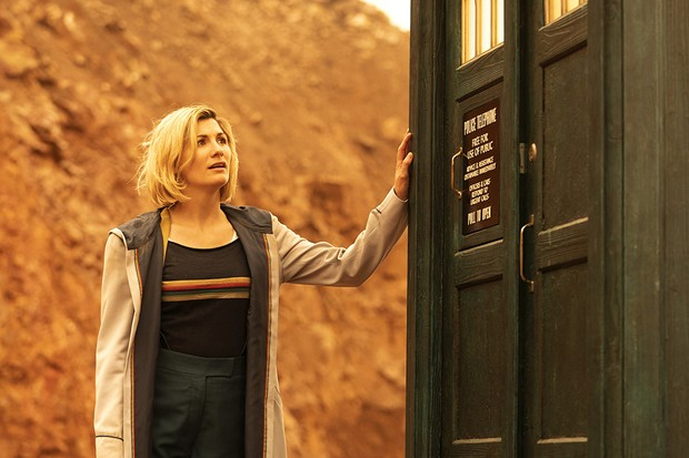 Jodie Whittaker as The Doctor - Doctor Who _ Season 12, Episode 10 - Photo Credit: James Pardon/BBC Studios/BBC America