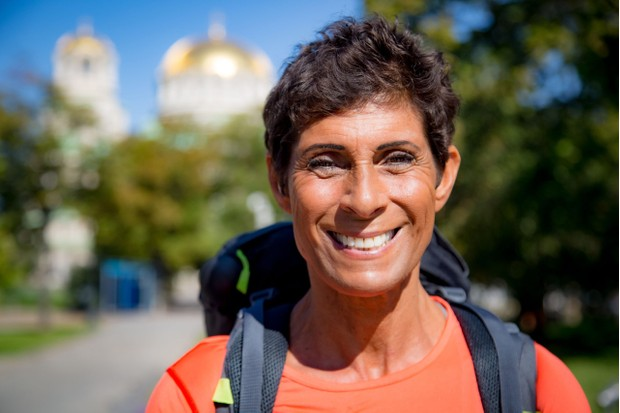 Programme Name: Pilgrimage: The Road to Istanbul - TX: n/a - Episode: Pilgrimage: The Road to Istanbul - ep 2 (No. 2) - Picture Shows:  Fatima Whitbread - (C) CTVC - Photographer: Oliver Rose
