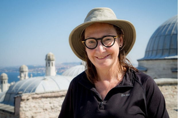 Programme Name: Pilgrimage: The Road to Istanbul - TX: n/a - Episode: Pilgrimage: The Road to Istanbul - ep 3 (No. 3) - Picture Shows:  Pauline McLynn - (C) CTVC - Photographer: Oliver Rose
