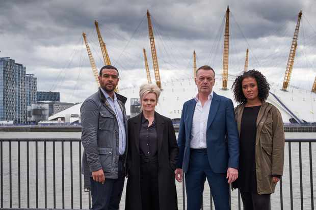 Programme Name: London Kills S2 - TX: n/a - Episode: London Kills S2 - generics (No. n/a) - Picture Shows:  D.C. Rob Brady (BAILEY PATRICK), D.S. Vivienne Cole (SHARON SMALL), D.I. David Bradford (HUGO SPEER), T.D.C. Billie Fitzgerald (TORI ALLEN-MARTIN) - (C) PGM TV London Kills Ltd - Photographer: Gideon Marshall