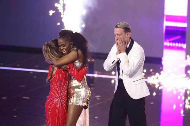 Programme Name: The Greatest Dancer - TX: 07/03/2020 - Episode: n/a (No. 9) - Picture Shows: ***Live Show*** Oti Mabuse, Michael and Jowita - (C) Thames/Syco - Photographer: Tom Dymond