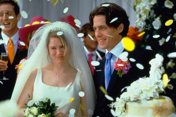 Bridget Jones's Diary Unit Renée Zellweger as Bridget Jones & Hugh Grant as Daniel Cleaver.  © 2001 NBCUniversal All Rights Reserved